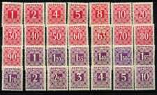 """1949/577; Postage-Due-Stamps - """"Numeral Stamps"""" complete set; MNH"""