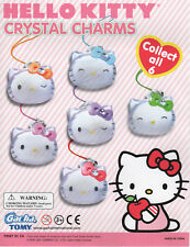 Gacha Tomy Hello Kitty Crystal Charms Complete set of 6