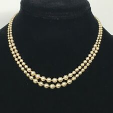 2 Vintage Metal Bead Art Deco Ball Chain Single Strand Necklace Box Clasp