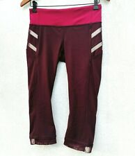 Lululemon Women's Illumina Crop Leggings Bordeaux Drama Bumble Berry Burgundy 6
