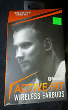 Sharper Image Active Fit SBT528gy Wireless/Bluetooth Headphones/Earbuds New