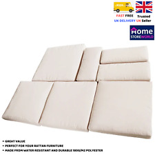 Cushion Cover Only 7 Pieces Replacement Set White Rattan Sofa Chair Furniture
