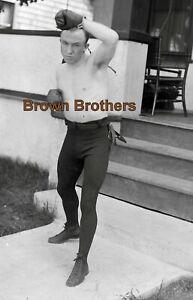1910s Boxing Chicago Born Bantamweight Johnny Coulon Glass Camera Negative #2