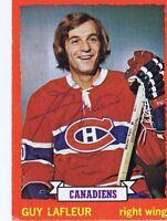 Guy Lafleur 1973 Topps Autograph #72 Canadiens