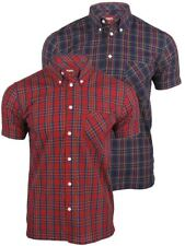 Merc London Men's 'Mack' Tartan Check Shirt - Short Sleeved