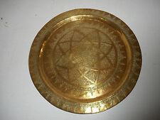 PLATEAU ANCIEN EN LAITON GRAVE.XIX°.Proche ou moyen Orient.Art islamique.