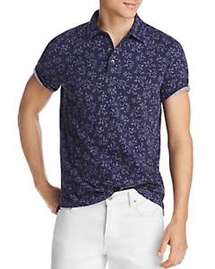 Bloomingdale's Mens Size Small Polo Shirt Leaf Print Jersey Classic Fit