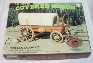 Allowed Brand #5014 Covered Wagon Pre-Cut Wooden Kit open box/complete