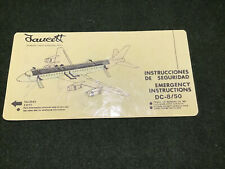 safety card faucett peru dc 8 50