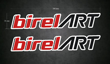 2 x 200mm x 35mm BIREL ART Stickers/Decals - Karting - Go-Kart