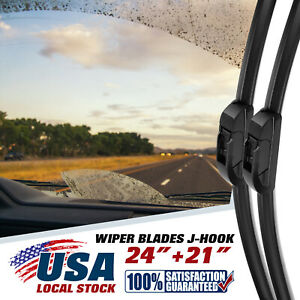 "For Honda Odyssey 1999-2004 24"" + 21"" Windshield Wiper Blades U &J hook NEW US"
