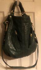 OrYany  Gwen Distressed Pebbled Leather Shoulder Bag Bronze Hardware Green