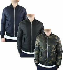 Mens MA1 Bomber Army Camo Jacket Quilted Casual Coat MOD Skin Bikers