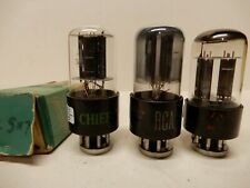 RCA Chief and Sylvania 12SN7 Vacuum Tubes (3) All Strong Testing
