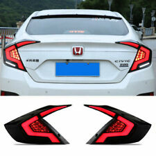 LED Taillights Assembly For Honda Civic 2016-2020 Dark Replace OEM Rear lights