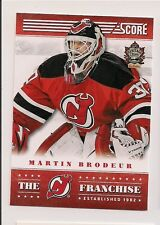 2013-14 PANINI SCORE #TF-5 MARTIN BRODEUR PROMO THE FRANCHISE NEW JERSEY DEVILS