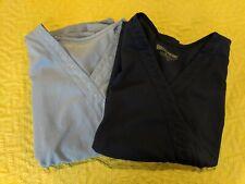 LOT OF 2 - Greys Anatomy Scrubs XL, RARE EKG, EGC, Heartline stitch, scrub top