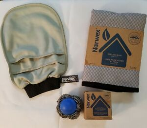 Norwex Car Wash Set, Mitt & Cloth,  & Pot Scrubber New! FREE SHIPPING!