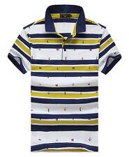 18313 New fashion men 3Colors embroidery Paul shark Short sleeve t-shirt M-XXXL