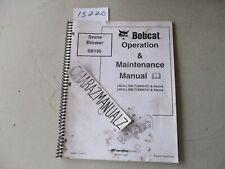 Cr 2003 Bobcat Snowblower Snow Blower Sb150 Operation Amp Maintenance Manual