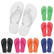 Sandalias y chanclas de mujer planos de color principal blanco