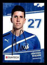 Sandro wieser autographe carte tsg Hoffenheim 2011-12 original signé +a20989