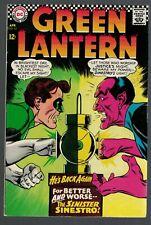 Dc Comics Green Lantern 6.5 FN+  sinestro justice league 1967