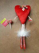 Red Heart Girl Figure Krinkles by Patience Brewster