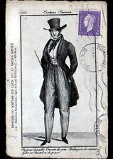 VIEUX PARIS / COSTUMES sous REGNE de LOUIS XVIII / COSTUME PARISIEN en 1823