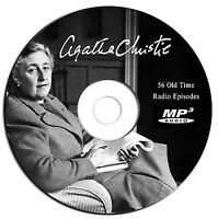 56 Agatha Christie OTR Old Time Radio Show Episodes-Audio Book MP3 CD-30 hours!