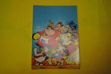 cp carte postale vintage  année 70 walt disney : mickey donald dingo goofy