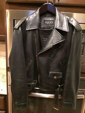 Authentic Gucci Mens Calf Skin Motorcycle Jacket Size XL SALE SALE PRICE