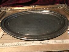 Pairpoint Mfg Co Quadruple P Plate B.1107 Oval Tray Platter W/ Curved Up Sides