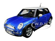 MINI COOPER 1:24 Scale Diecast Toy Car Model Die Cast Cars Models Blue Miniature