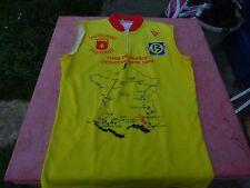 maillot  de vélo Tour de France Cyclotouriste 1994 Provence sans manche 70x50cm
