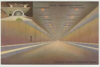 Unused Postcard Americas Super Highway Tunnel on the Pennsylvania Turnpike PA