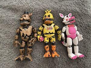 Lot Of 3 Nightmare FNAF (Five Nights At Freddy's) Original Figure Toys