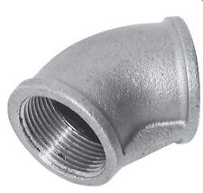 """1 1/2"""" - Galvanised Equal Female BSPT 45° Elbow Pipe Fitting C155-112 #18A209"""