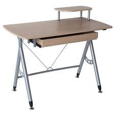 Computertisch PC Tisch Schreibtisch Bürotisch Tisch DAVID Farbe silber eiche