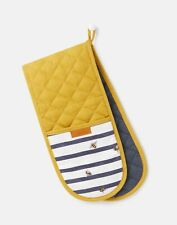 Joules Home Double Oven Gloves - Bee Stripe - One Size