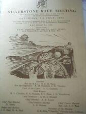 SILVERSTONE 1952 PROGRAMME MG CAR CLUB MG TD TC BUCKLER COOPER MG STONEHAM HRG