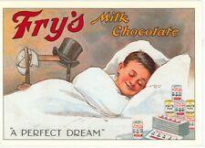 "FRY'S MILK CHOCOLATE-A PERFECT DREAM-BOY SLEEPING--REPRO-4""X6""(DV-332*"