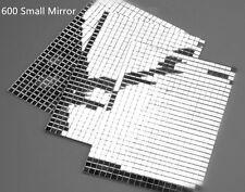 600 small Silver Self-Adhesive Mirror Home DIY Decora Mosaic Tiles Mirror Tiling