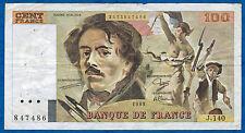FRANCE - 100 FRANCS DELACROIX Fayette n° 69.13.b de 1989 en TB J.140 847486