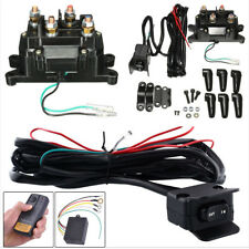 Car SUV ATV UTV Solenoid Relay Contactor Winch Remote Control Kit +Rocker Switch