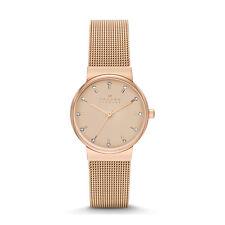Skagen Women's SKW2197 Ancher Rose Gold Dial Rose Gold Steel Mesh Bracelet Watch