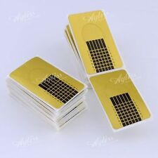 100Pc Golden Nail Forms Sculpting Guide For UV Gel Acrylic Nails Tips Art Tool
