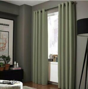 2pc Panels Heavy Thick Grommet Blackout Window Panel Curtain Drape Living-room A