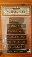 Sticko Inspirables 3D Leather TRAVEL Stickers Vacation Passport Luggage SPIN016