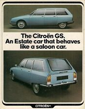 Citroen GS Estate 1972-73 UK Market Foldout Brochure Confort Super Confort Club